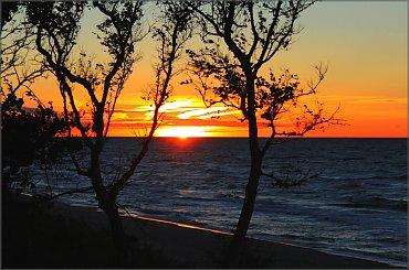 Zachód słońca nad morzem #Bałtyk #Kołobrzeg #morze #słońce #zachód