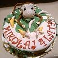 Małpka Ciekawski #małpka #ciekawski #szympans #małpa #TortyOklicznościowe #tort