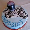 Torcik dla 44 letniej pani #motor #Ścigacz #TortyOkazjionalne #tort #urodziny #kask