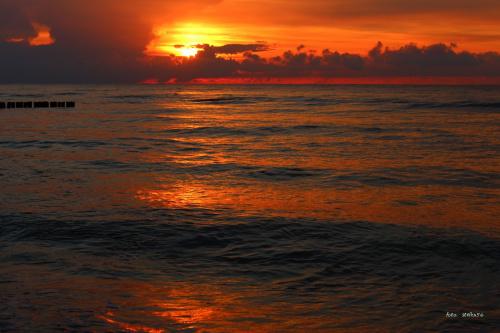 zachód słońca - Sarbinowo - 15.08.2014 **** ulub. gonzki **** #plaża #Sarbinowo #zachód
