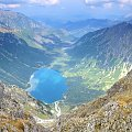 Morskie Oko z Mięguszowieckiej Przełęczy Pod Chłopkiem #Tatry #MorskieOko #PrzełęczPodChłopkiem