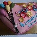 Serce z balonikami #serce #TortSerce #baloniki #kwiaty #TortyOkazjonalne #tort