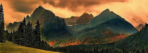 Alpy. W dali chyba Maternhorn #góry #niebo