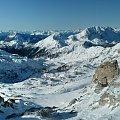 Panorama z Troghohe 2020 m #Alpy #Austria #Narty #Nassfeld