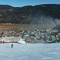Panorama z dolnego odcinka Carnii ( trasa FIS ) #Alpy #Austria #Narty #Nassfeld