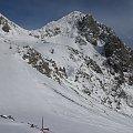 Widok z punktu ciut powyżej platformy na Gartnerkofel - szóstka FIS i kawałak siódemki , super traski #Alpy #Austria #Narty #Nassfeld