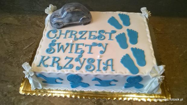 Chrzest Krzysia #TortNaChrzest #chrzciny #TortOkazjonalny #torty #TortyNaChrzciny