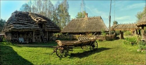 skansen w Kuligowie (Mazowsze) #skanseny #wsie #architektura